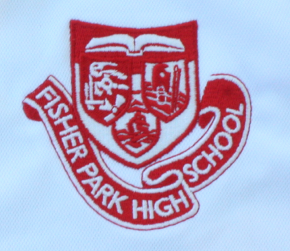 Fisher Park High School logo with ribbon