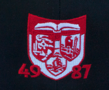 "Fisher Park logo with ""49-87"" on it"